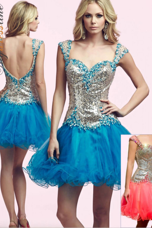 Mac Duggal 82095N - Mac Duggal Regular Size Dresses