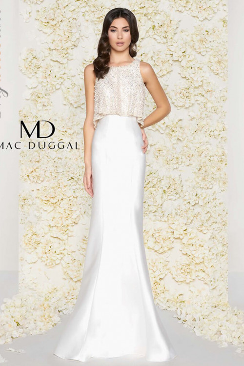 Mac Duggal 20057D - Mac Duggal Regular Size Dresses