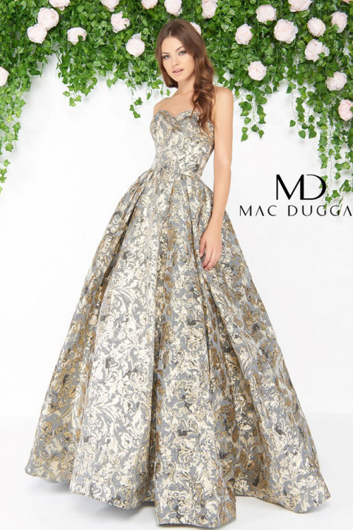 Mac Duggal 66222D - Mac Duggal Regular Size Dresses