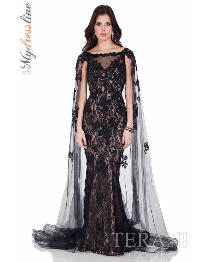 Terani couture lace dress