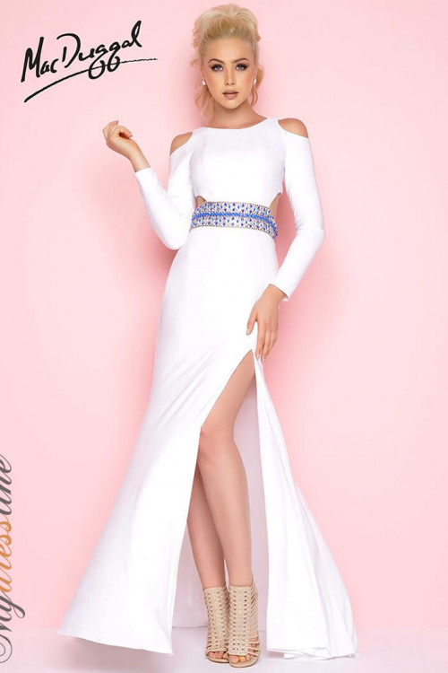 Mac Duggal 77238L - Mac Duggal Regular Size Dresses