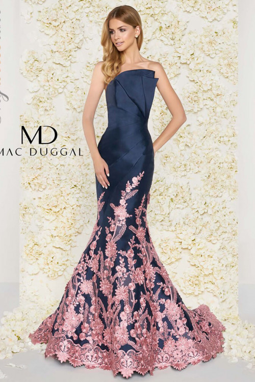 Mac Duggal 80761D - Mac Duggal Regular Size Dresses