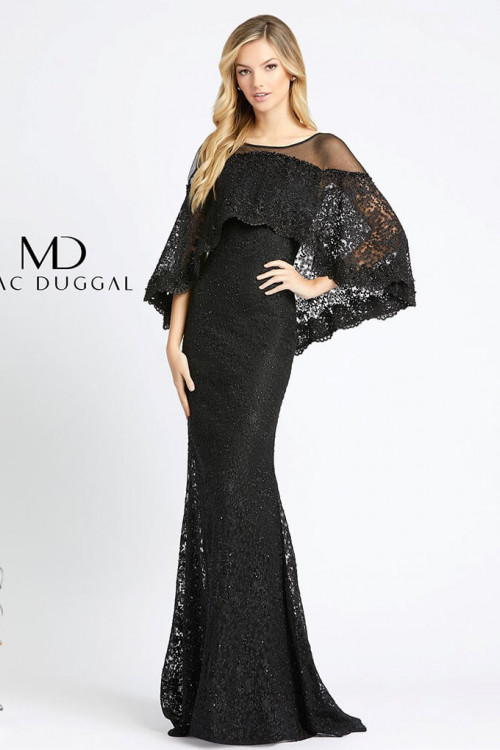 Mac Duggal 20072D - Mac Duggal Regular Size Dresses