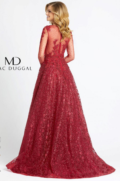 Mac Duggal 20100D - Mac Duggal Regular Size Dresses