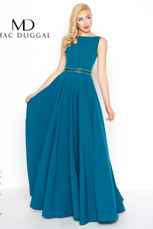 Mac Duggal 25608L - Mac Duggal Regular Size Dresses