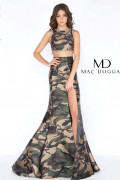 Mac Duggal 40814A - Mac Duggal Regular Size Dresses