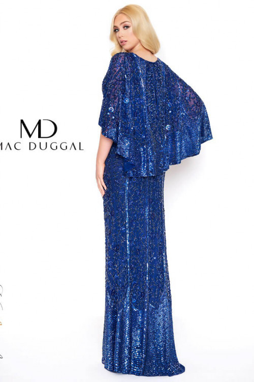 Mac Duggal 4611D - Mac Duggal Regular Size Dresses