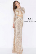 Mac Duggal 4660A - Mac Duggal Regular Size Dresses