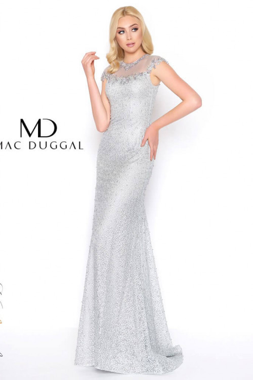 Mac Duggal 50504D - Mac Duggal Regular Size Dresses