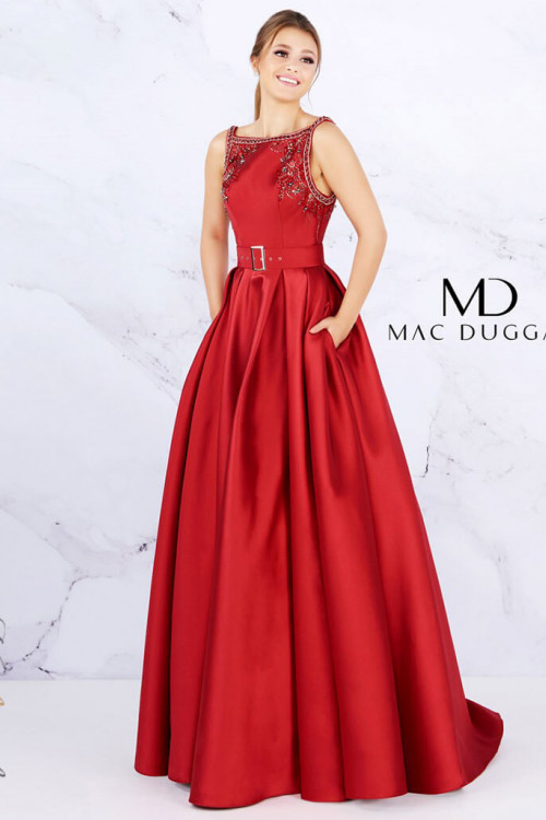 Mac Duggal 50509D - Mac Duggal Regular Size Dresses