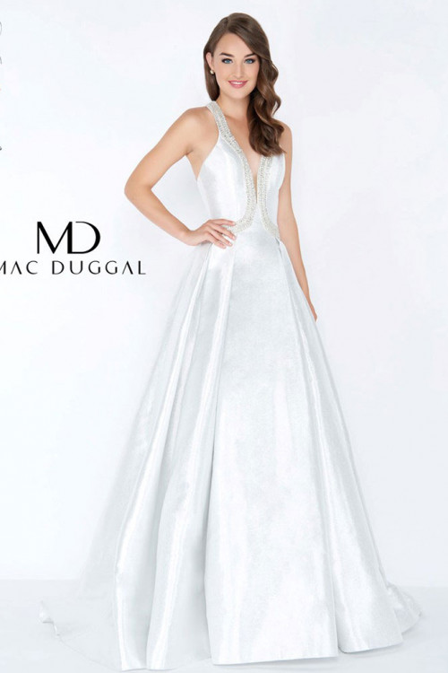 Mac Duggal 62973M - Mac Duggal Regular Size Dresses