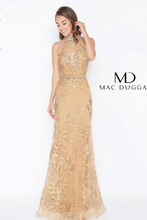 Mac Duggal 66461M - Mac Duggal Regular Size Dresses