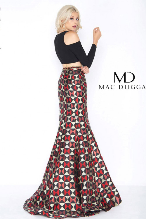 Mac Duggal 66523A - Mac Duggal Regular Size Dresses