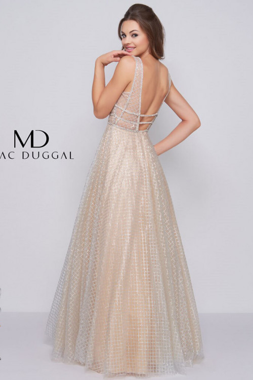 Mac Duggal 77402M - Mac Duggal Regular Size Dresses