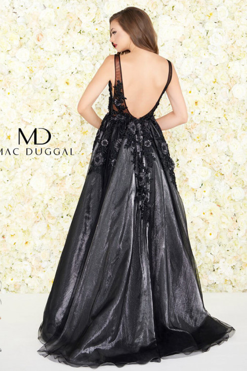 Mac Duggal 12104R - Mac Duggal Regular Size Dresses