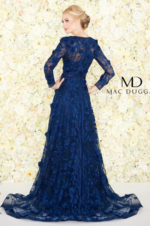 Mac Duggal 20108D - Mac Duggal Regular Size Dresses