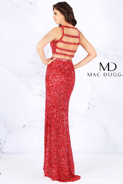 Mac Duggal 4810A - Mac Duggal Regular Size Dresses