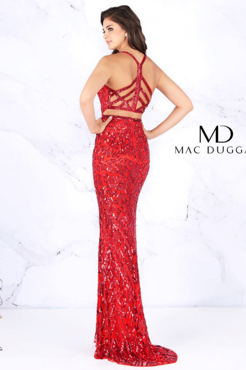 Mac Duggal 4875A - Mac Duggal Regular Size Dresses