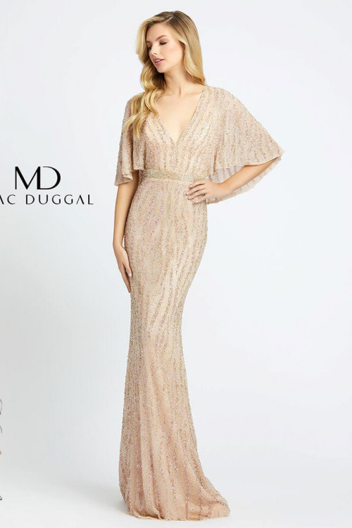 Mac Duggal 4917D - Mac Duggal Regular Size Dresses