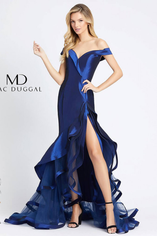 Mac Duggal 67068D - Mac Duggal Regular Size Dresses