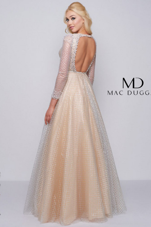 Mac Duggal 77497M - Mac Duggal Regular Size Dresses