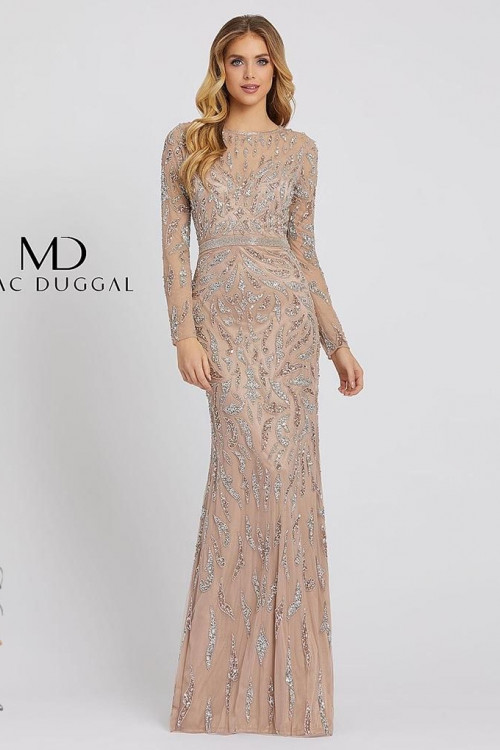 Mac Duggal 5124D - Mac Duggal Regular Size Dresses