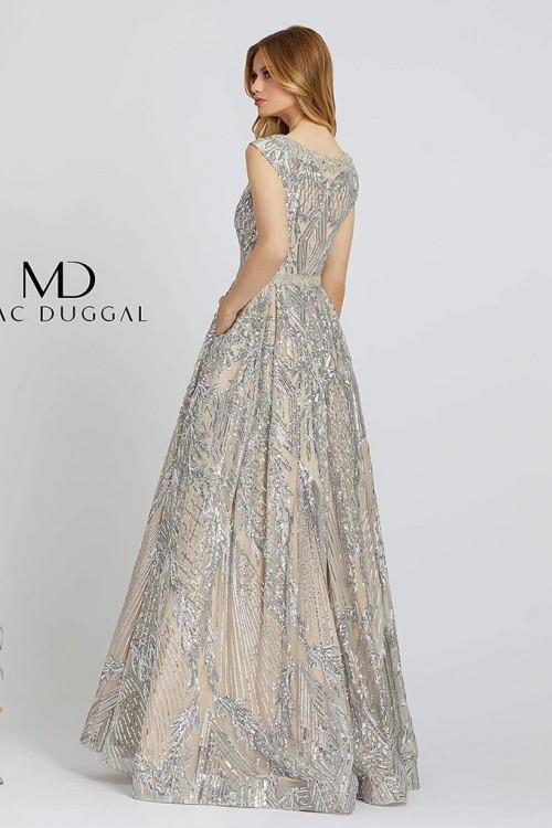 Mac Duggal 67118M - Mac Duggal Regular Size Dresses