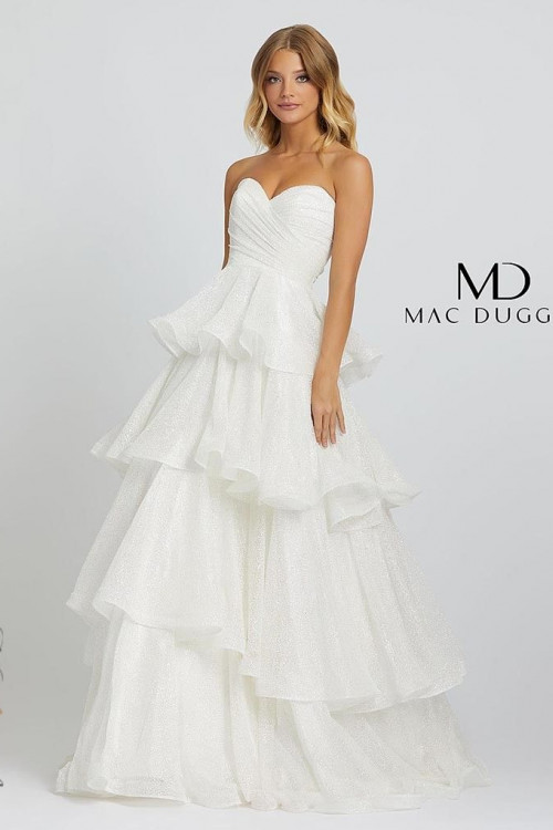 Mac Duggal 67195M - Mac Duggal Regular Size Dresses