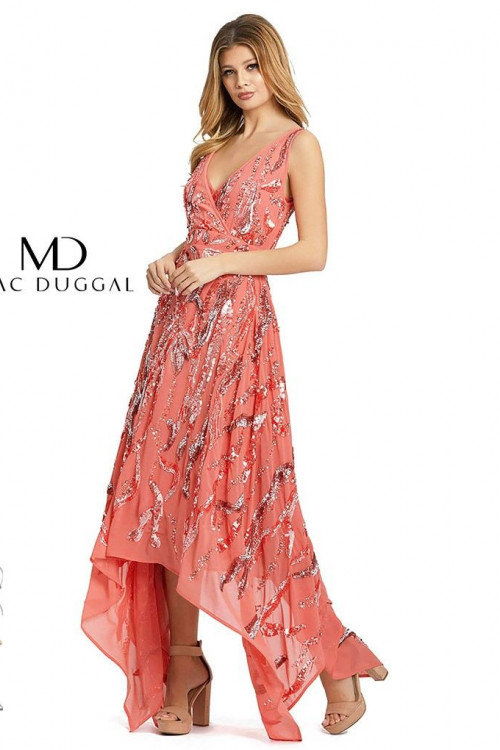 Mac Duggal 10524D - Mac Duggal Regular Size Dresses