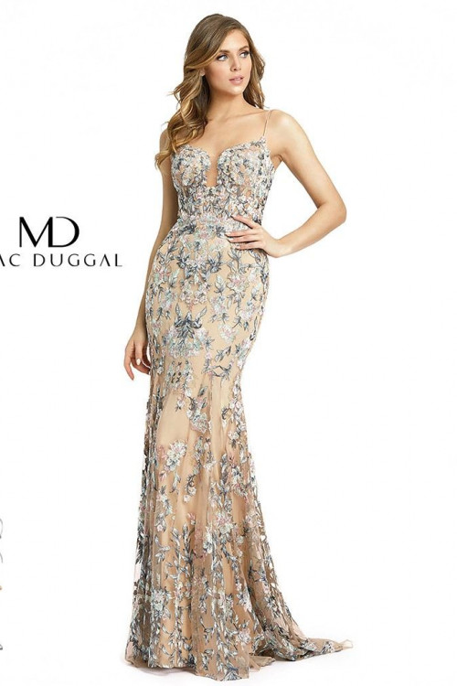 Mac Duggal 79313M - Mac Duggal Regular Size Dresses