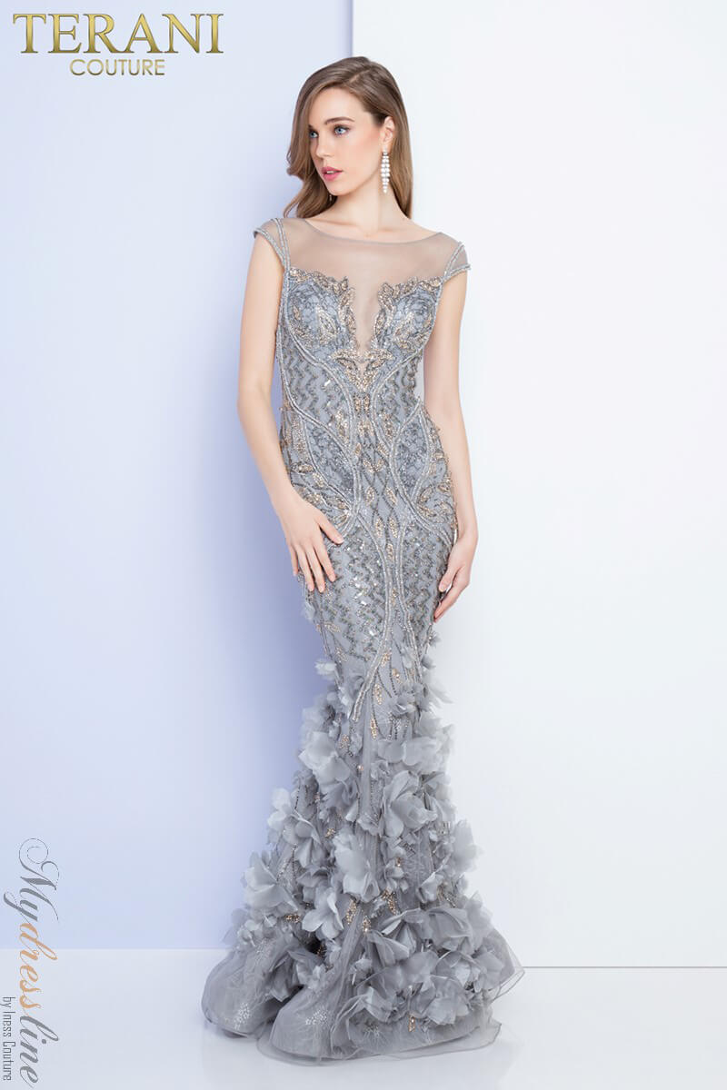 6a8a0815b81 Details about Terani Couture 1721GL4421 Evening Dress ~LOWEST PRICE  GUARANTEED~ NEW Authentic