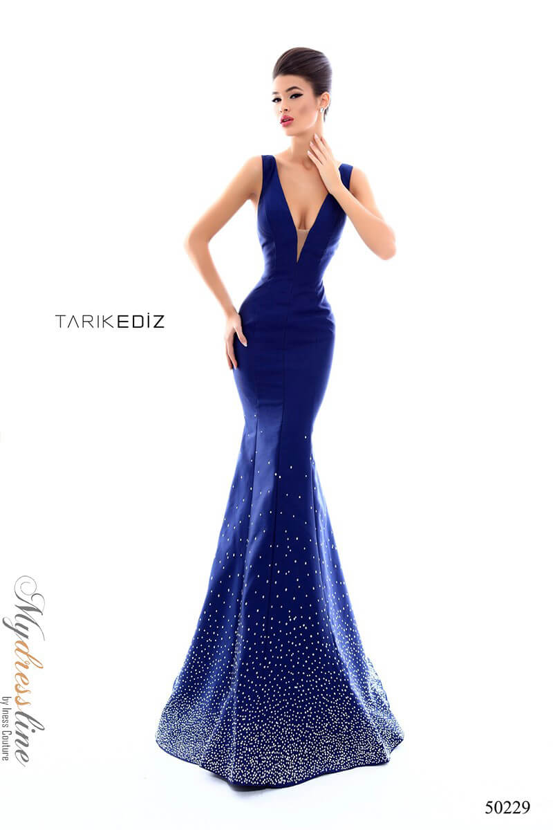 8b4bd09b041 Name  Tarik Ediz 50229 Evening Dress ~LOWEST PRICE GUARANTEED~ NEW  Authentic Gown
