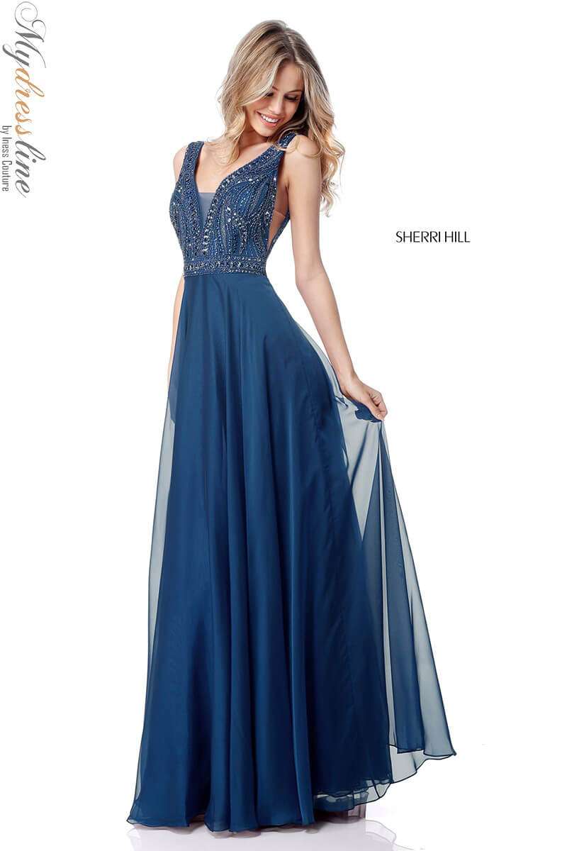 6fbfcd3162b Name  Sherri Hill 51874 Long Evening Dress ~LOWEST PRICE GUARANTEE~ NEW  Authentic Gown