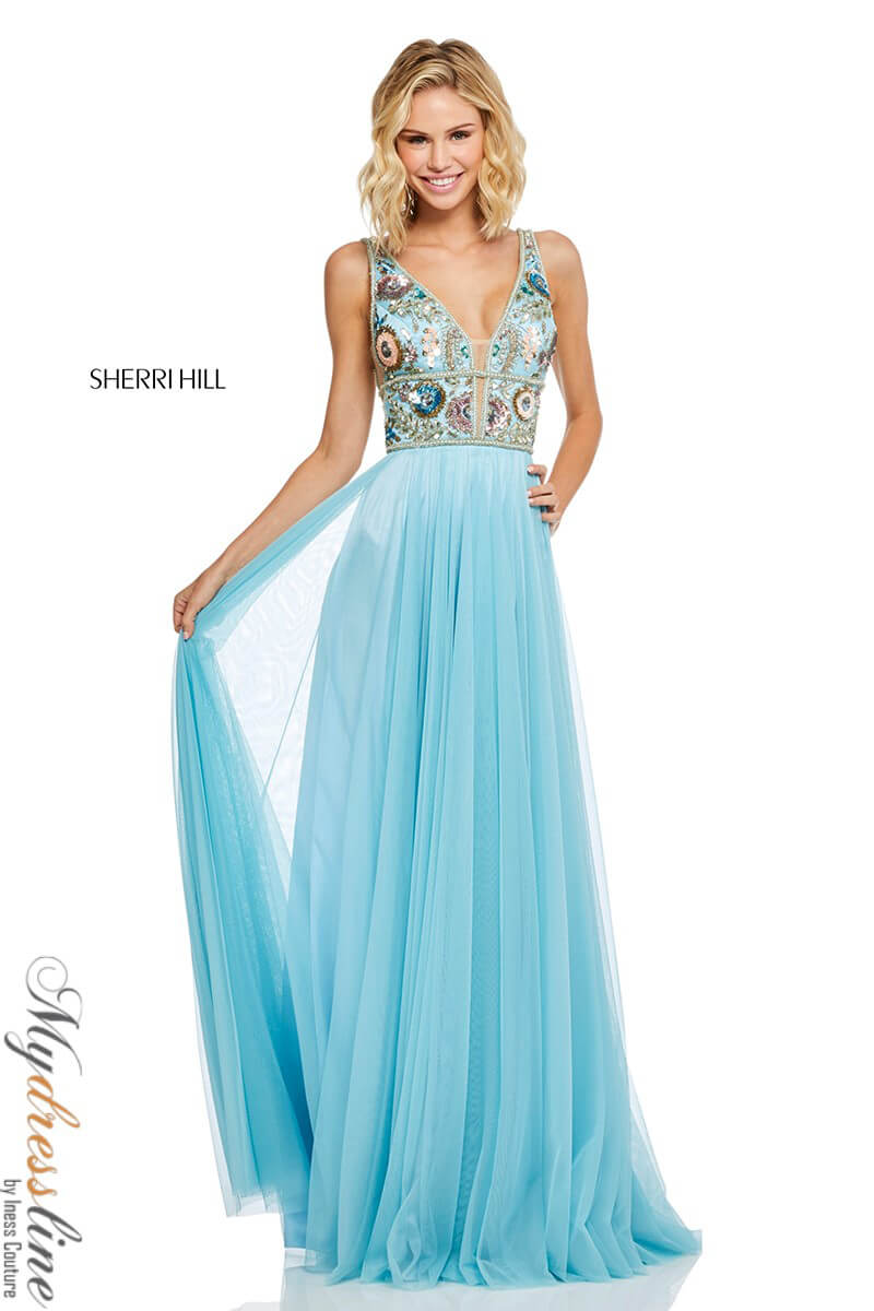 7d6187ff70d Name  Sherri Hill 52473 Long Evening Dress ~LOWEST PRICE GUARANTEE~ NEW  Authentic Gown