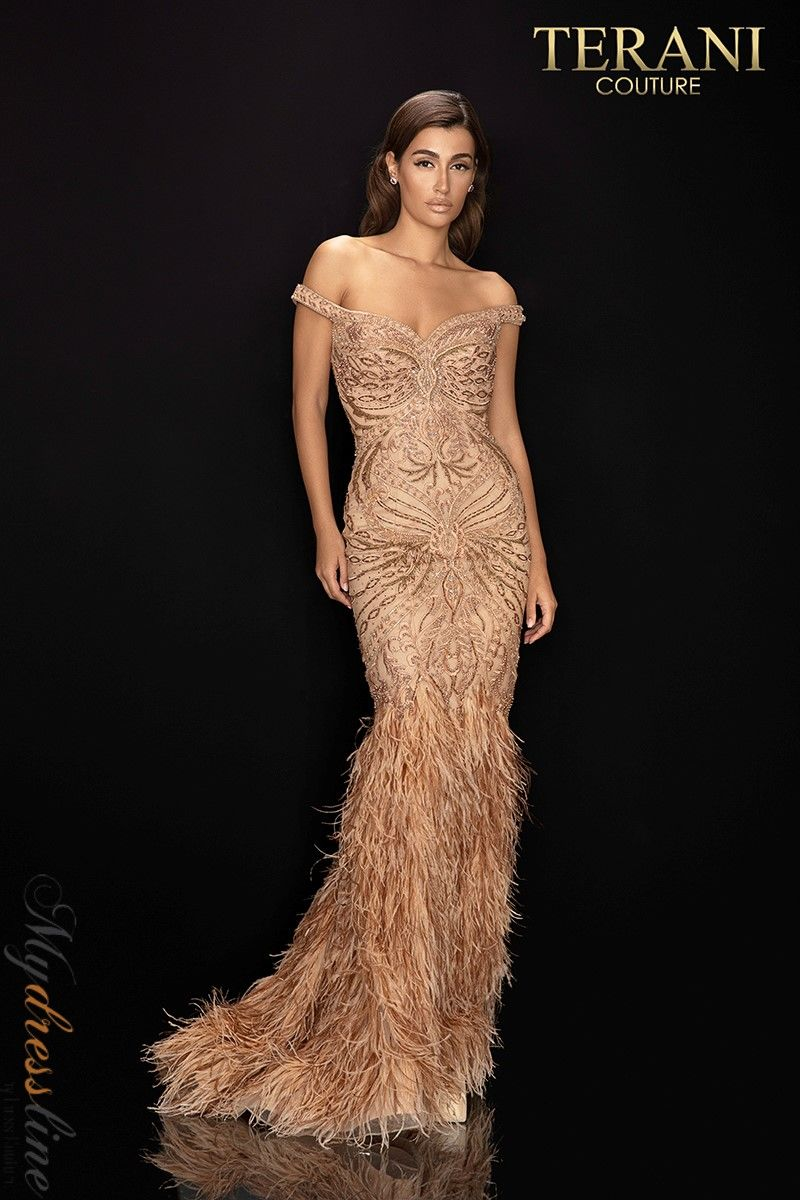 Details about Terani Couture 2011GL2221 Evening Dress ~LOWEST PRICE GUARANTEED~ NEW Authentic